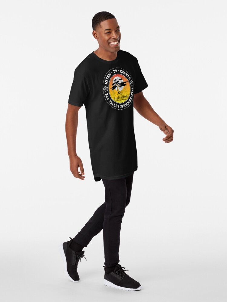 Alternative Ansicht von Karate Kid - Herr Miyagi Do Black Distressed Variante Longshirt