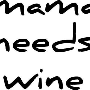 Funny Mama Needs Some Wine Women TShirt Gift by RedYolk
