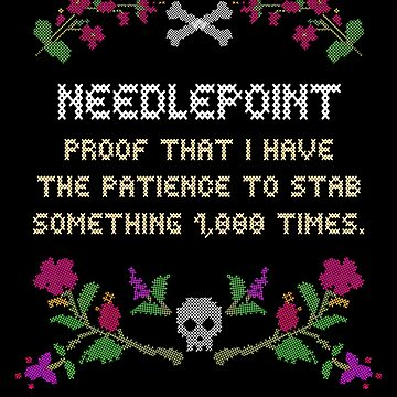 Needlepoint Funny Cross-Stitch Hobby Sewing Skull and Crossbones by MIGHTYSUN