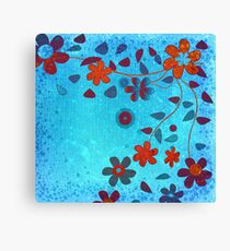 Grunge Flowers Canvas Print
