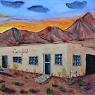 Abandoned Cafe in the Desert by lisavonbiela