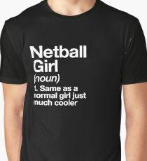 Netball-Mädchen-Definitions-lustiger u. Frecher Sport-Entwurf Grafik T-Shirt
