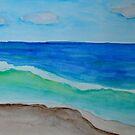 Ocean Wave Breaking on the Shore by lisavonbiela