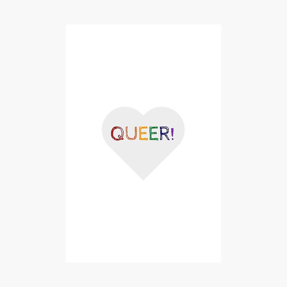 QUEER RAINBOW HEART Photographic Print