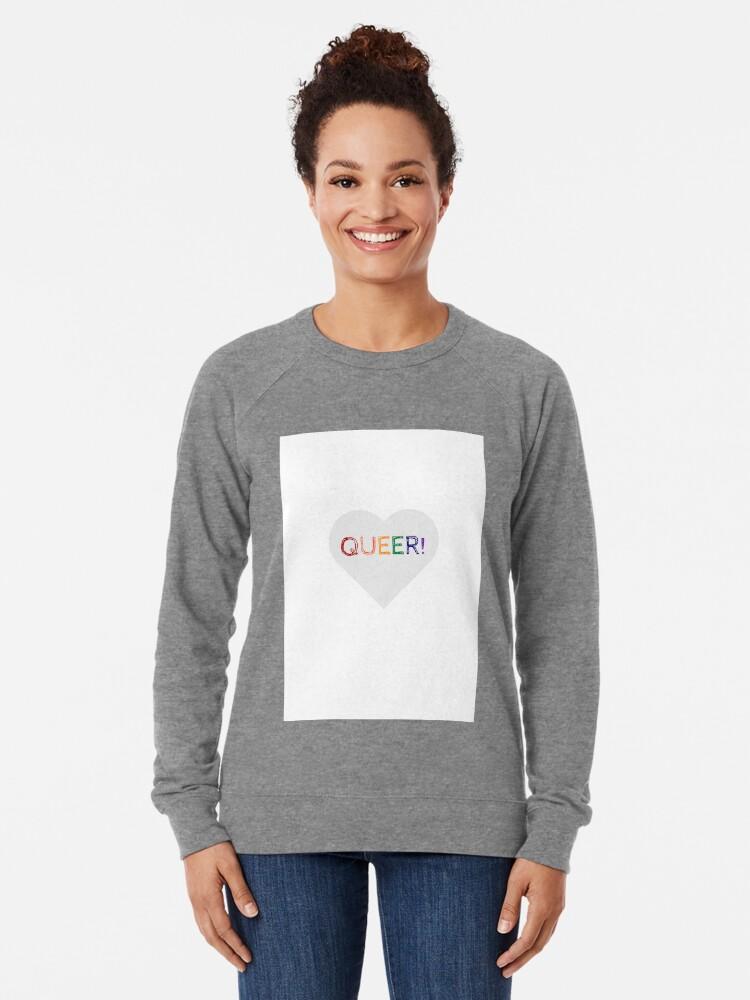 Alternate view of QUEER RAINBOW HEART Lightweight Sweatshirt