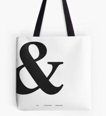 Ampersand-Typografie-Druck Tasche