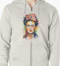 Frida Kahlo Hoodie mit Reißverschluss