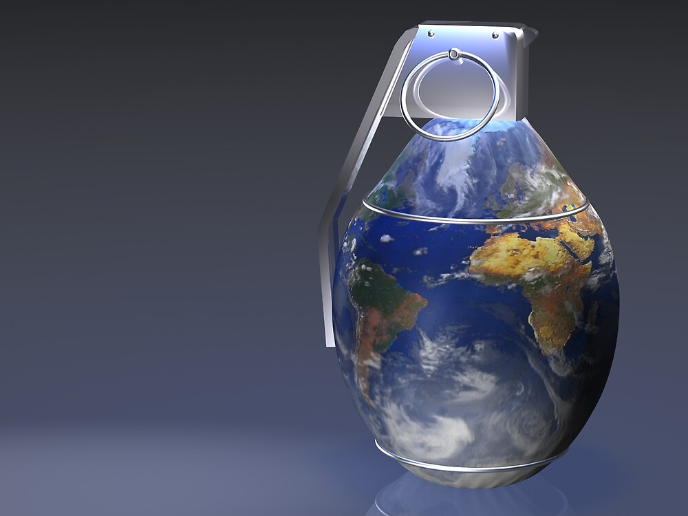 Earth Grenade by krddesigns
