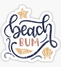 Beach Bum Distressed Beach  Sticker