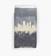 San Francisco California Skyline Duvet Cover