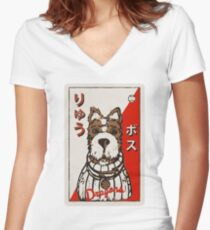 Isle of Dogs - Boss Baseball Card Women's Fitted V-Neck T-Shirt