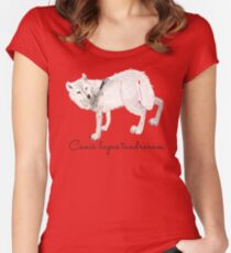 Totem tundra wolf (Tundrarum) Women's Fitted Scoop T-Shirt