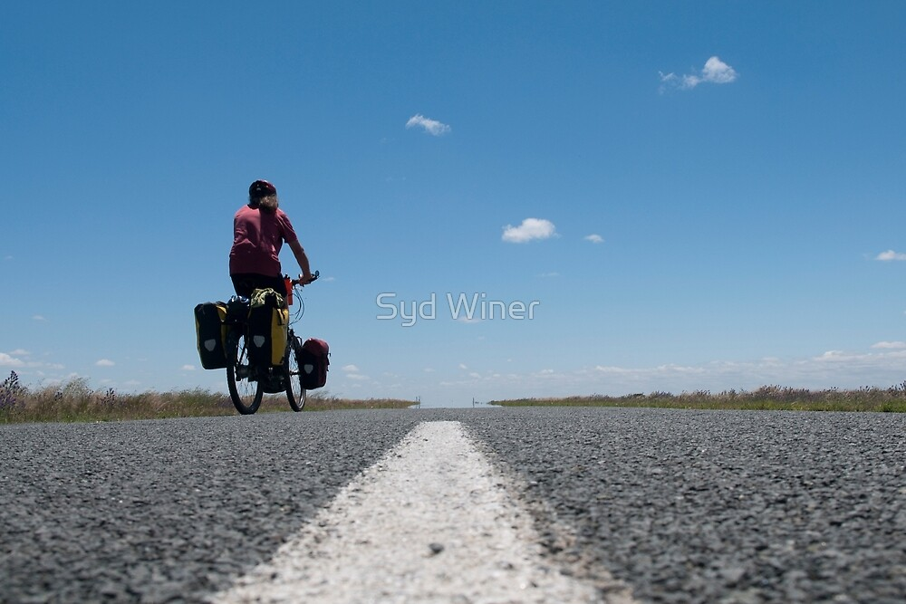 Self portrait on the Hay Plains by Syd Winer