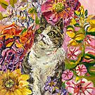 Mitzie in Flowers by F.A. Moore