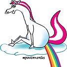 Unicorn pooping rainbow by claudiasartwork