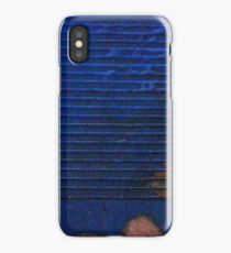 Low Res Blue Metal Panel iPhone Case