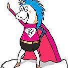 Unicorn Superhero by claudiasartwork
