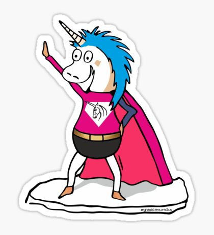 Einhorn Superheld Sticker