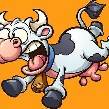 Scared cow by memoangeles