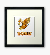 Boris Eagle Sticker Framed Print