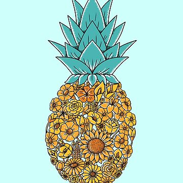 Pineapple Floral by coffeeman