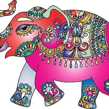 Elephant Indian Colorful Asia by Patfu