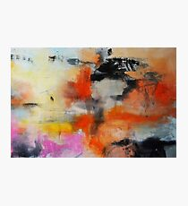 Abstract Orange Black Print from Original Painting  Photographic Print