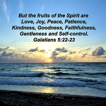 PRETTY SUNRISE GALATIANS 5:22 PHOTO DESIGN by JLPOriginals