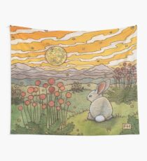 Bunny Sunset Wall Tapestry