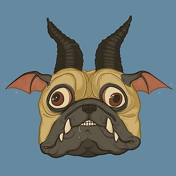 Demon Bat Pug by Rougaroux