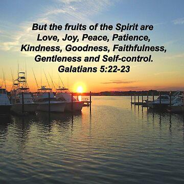 GALATIANS 5:22 SUNSET ON THE LAKE PHOTO DESIGN by JLPOriginals