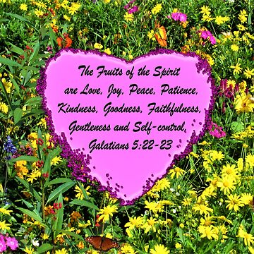YELLOW WILDFLOWER FRUITS OF THE HOLY SPIRIT PHOTO DESIGN by JLPOriginals