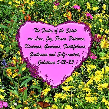 YELLOW WILDFLOWER FRUITS OF THE HOLY SPIRIT PHOTO DESIGN by JLPOriginals