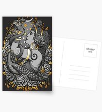 Tribal Belly Dancer Witch Postcards