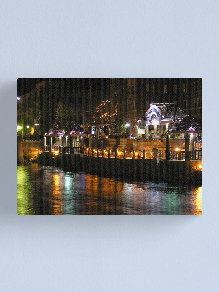 Alternate view of Truckee River Lights  Canvas Print
