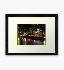 Truckee River Lights  Framed Print