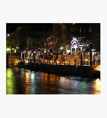 Truckee River Lights  Photographic Print