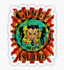 Coney Island Devil Sticker