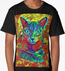 CAT COLORFUL Long T-Shirt
