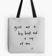 big book & cup of tea Tote Bag
