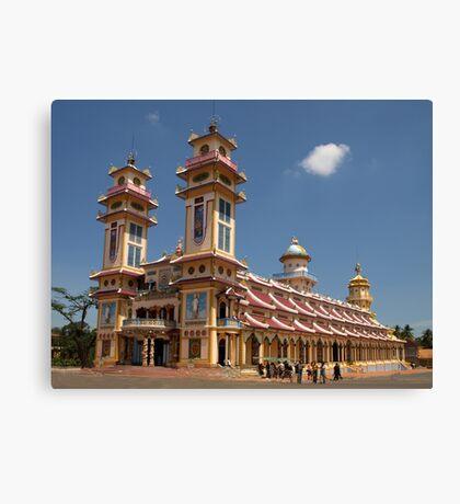 Cao Dai Temple at Tay Ninh, west of Ho Chi Minh City, Vietnam Canvas Print