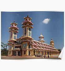 Cao Dai Temple at Tay Ninh, west of Ho Chi Minh City, Vietnam Poster