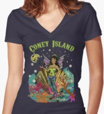 Luna Mermaid Women's Fitted V-Neck T-Shirt