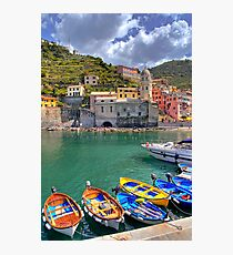 Vernazza - Five Lands - Marina Photographic Print
