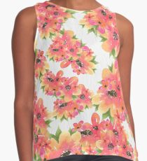 Just A Bunch Watercolor Florals Contrast Tank