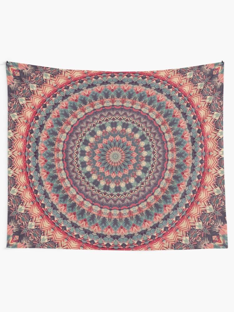 Alternate view of Mandala 126 Tapestry