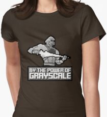 By the Power of Grayscale Womens Fitted T-Shirt