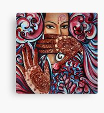 Henna Painting Mixed Media Canvas Prints Redbubble