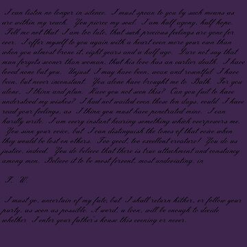 Mr Wentworth Letter - Purple by mrsthornton