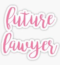future lawyer - pink Sticker